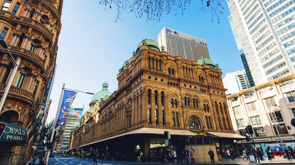 Outside the Queen Victoria Building, Sydney City