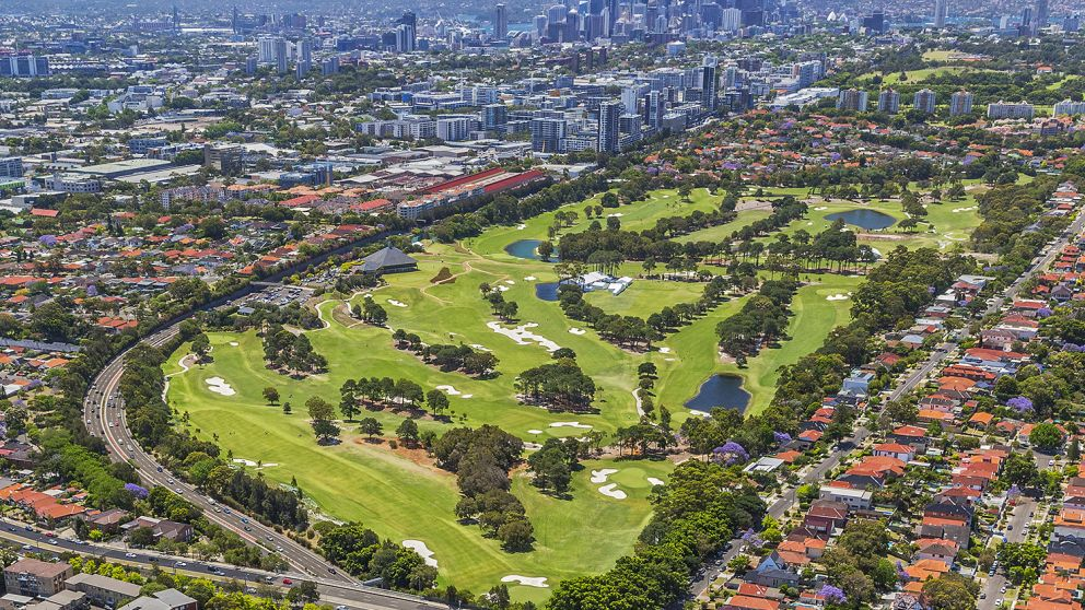 Aerial view of The Australian Golf Club, Rosebery