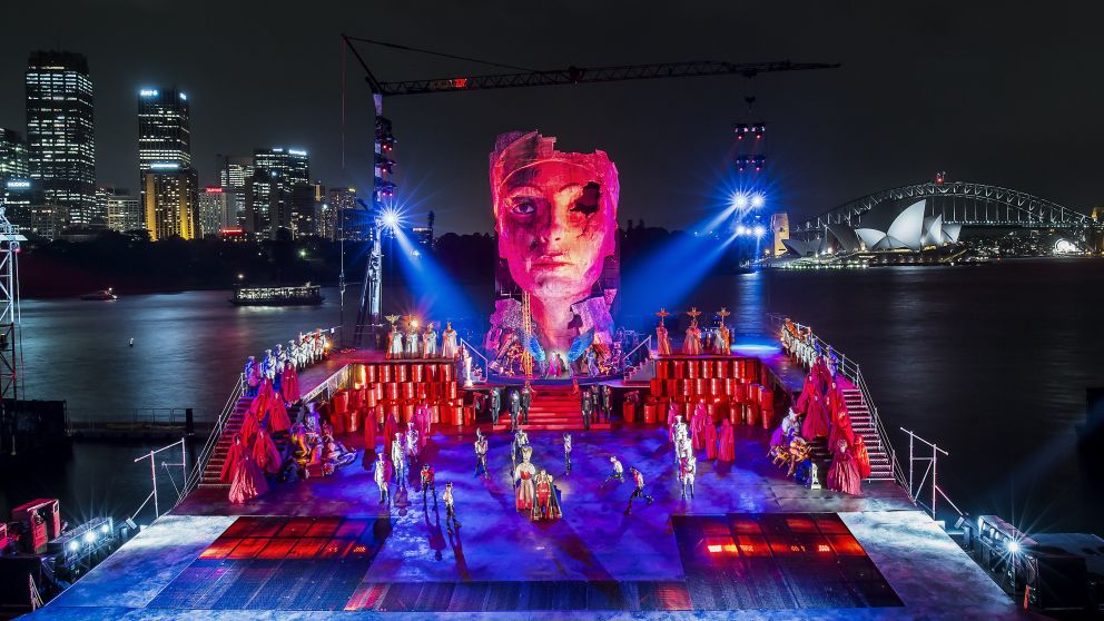 Spectacular production of Verdi's Aida, Handa Opera against the back drop of Sydney Harbour