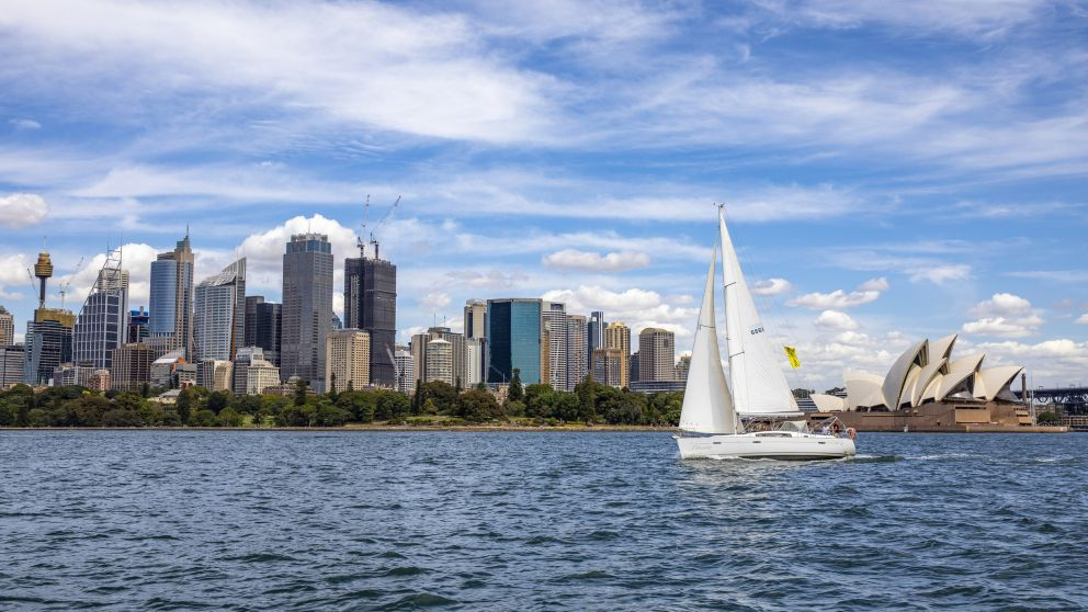 People enjoying a chartered sailing tour on Sydney Harbour, Sydney City