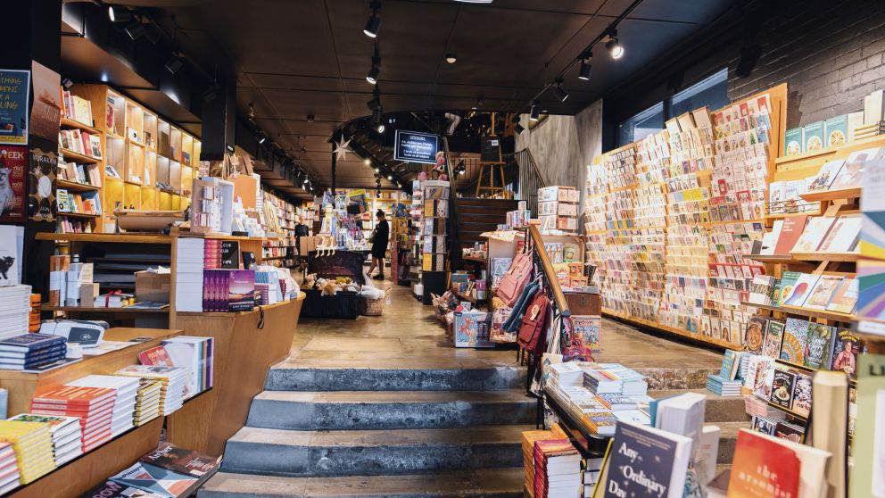 Inside the Berkelouw Paddington book store on Oxford Street, Paddington