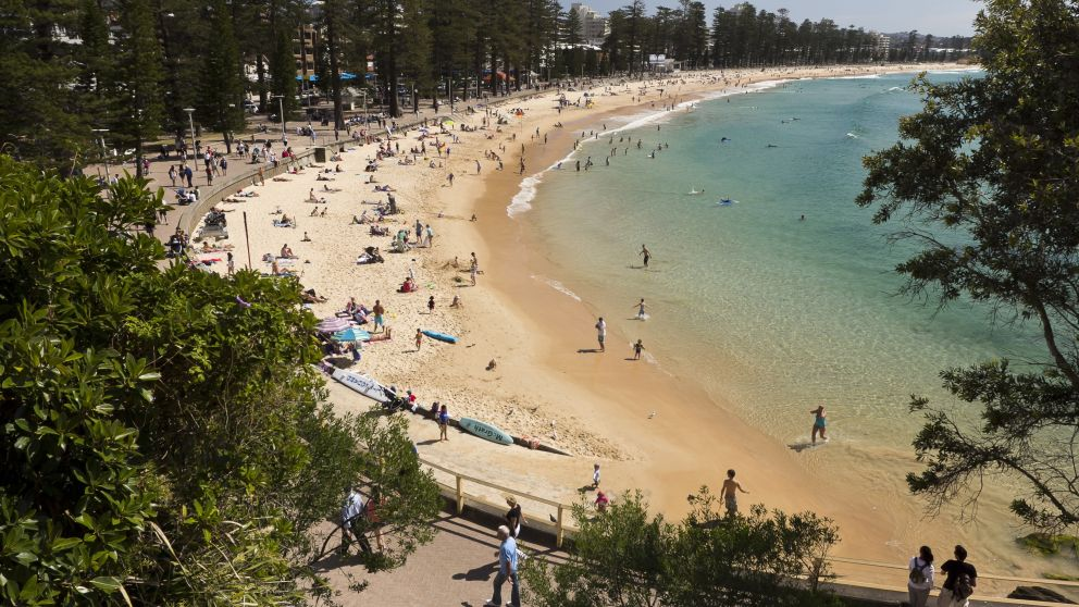 View of Manly beach at South Steyne