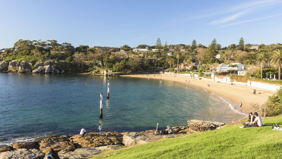 Green Point Reserve overlooking Camp Cove in Watsons Bay