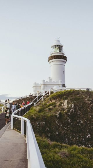 People enjoying a visit to Cape Byron Lighthouse in Byron Bay, North Coast