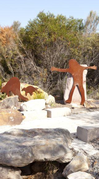 Guringai Aboriginal art at West Head, Ku-Ring-Gai Chase National Park - Andrew Gregory; Destination NSW