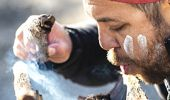 Smoking ceremony during a traditional welcome - Ngaran Ngaran Culture Awareness Tour in Narooma