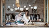 Friends shopping for handmade homewards at Commune, Bondi Beach