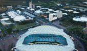 Aerial of ANZ Stadium at Sydney Olympic Park, Sydney West