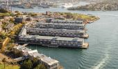 Aerial view over Walsh Bay in Sydney's City