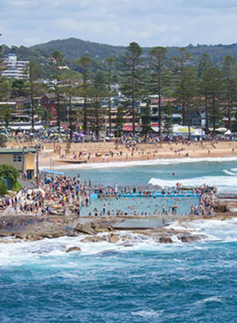 Dee Why beach and ocean pool
