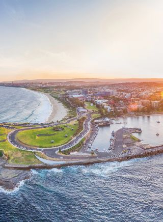 Wollongong Sunset Aerial - NSW South Coast