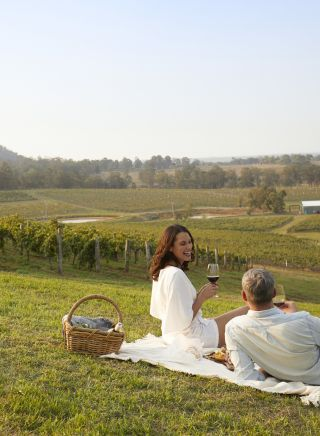 Wine picnic next to the vineyard - Audrey Wilkinson - Pokolbin - Hunter Valley