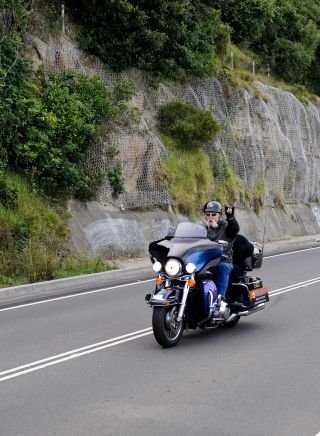 Driving the Sea Cliff Bridge with Just Cruisin' Harley Davidson Motorcycle Tours, Illawarra