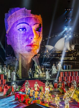 Verdi's Aida, Handa Opera against the back drop of Sydney Harbour