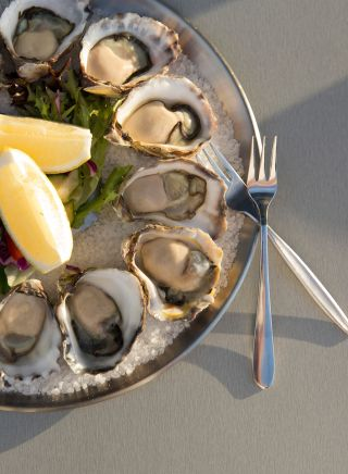 Fresh Sydney Rock Oysters on the menu at Tathra Hotel, Tathra