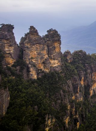 The Three Sisters rock formations in the Blue Mountains National Park