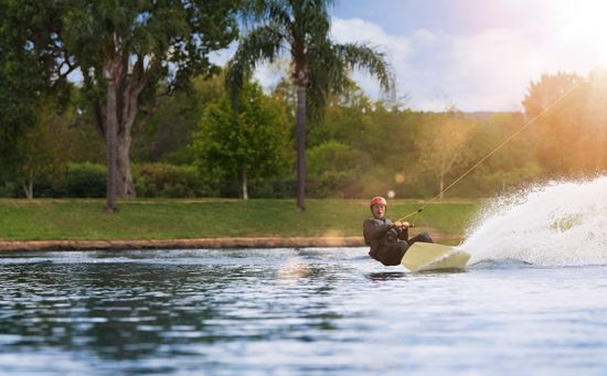 Man Wake boarding in Penrith