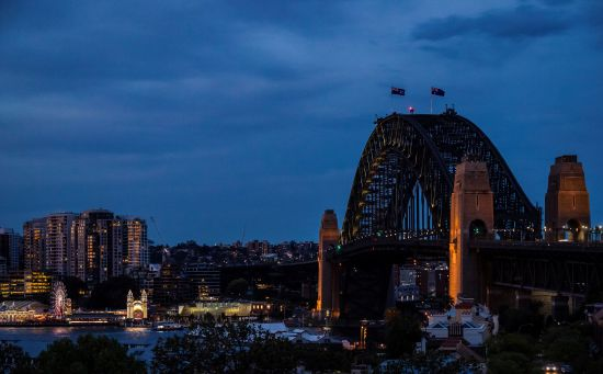View of the Sydney Harbour Bridge from Observatory Hill, Millers Point