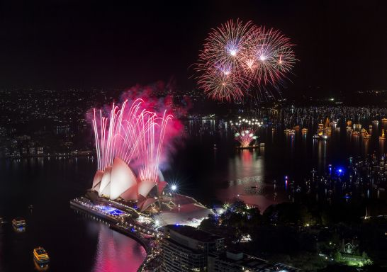 Sydney's New Year's Eve fireworks, Sydney Harbour